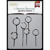 "Donna Downey Signature Stencils 8.5""X8.5""-Dandelion Pods"