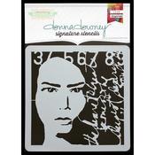"Donna Downey Signature Stencils 8.5""X8.5""-Collage Portrait"