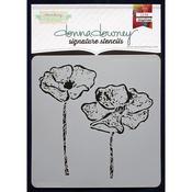 "Donna Downey Signature Stencils 8.5""X8.5""-Anemone Duo"