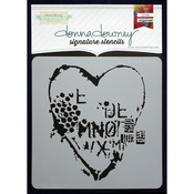 "Donna Downey Signature Stencils 8.5""X8.5""-Heart Texture"