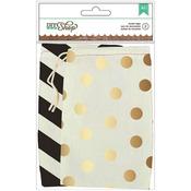DIY Shop 2 Printed Muslin Bags 2/Pkg-