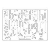 Homemade Alphabet - Sizzix Thinlits Die