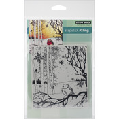 Winter Song - Penny Black Cling Rubber Stamp Sheet-