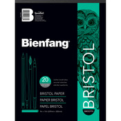 "20 Sheets - Bienfang Bristol Board Smooth Paper Pad 9""X12"""