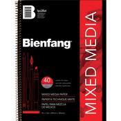 """40 Sheets - Bienfang Mixed Media Paper Pad 9""""X12"""""""