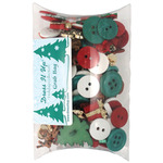 Dress It Up Grab Bag of Buttons - Christmas
