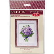 "Violets Counted Cross Stitch Kit-5""x6.25"" 16 Count"