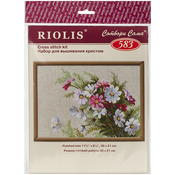 """11.75""""X8.25"""" 15 Count - Cosmos Counted Cross Stitch Kit"""