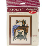 "7.125""X9.5"" 15 Count - Cat With Sewing Machine Counted Cross Stitch Kit"