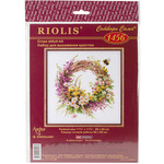 """11.75""""X11.75"""" 14 Count - Wreath With Firewood Counted Cross Stitch Kit"""