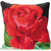 """15.75""""X15.75"""" 18 Count - Rose Cushion Tapesty Kit"""