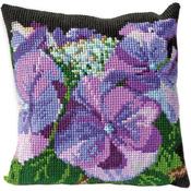 "15.75""X15.75"" 18 Count - Hydrangea Cushion Tapestry Kit"