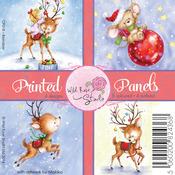"Reindeer - Wild Rose Studio Ltd. 4""X4"" Printed Panels 12/Sheets"