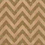 Chevron Gold Glitter Fabric Sheet - Craft Market - Crate Paper