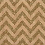 Chevron Gold Glitter Fabric Sheet - Craft Market - Crate Paper