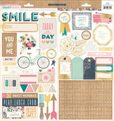 Craft Market 6 x 12 Journaling & Title Stickers - Crate Paper
