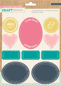 Craft Market Colored Chalkboard Stickers - Crate Paper