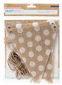 Craft Market Burlap Flag Kit - Crate Paper
