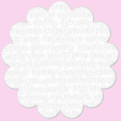 "Spring Scramble - Simply Spring Invisibles Die-Cut Plastic Sheet 12""X12"""