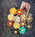 Retrospect Mulberry Paper Flowers - Timeless Memories - Prima