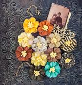 Retrospect Mulberry Paper Flowers - Timeless Memories - Prima