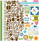 "Treasures & Text - Campout Cardstock Stickers 12""X12"""