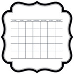 "Calendar - Color Chaos Invisibles Die-Cut Plastic Sheet 12""X12"""