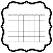 "Calendar - Color Chaos Invisibles Die-Cut Plastic Sheet 12""X12"""