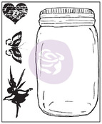 Jar Clear Stamps - Butterfly - Prima