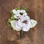Mina Canvas & Burlap Flower Stem - Sylvan - Prima