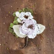 Mina Canvas & Burlap Flower Stem - Sylvan - Prima