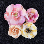 Rose Quartz Mulberry Paper Flowers - Watercolor - Prima