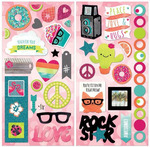 Forever Young Chipboard Stickers - Bo Bunny
