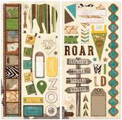 Safari Chipboard Stickers - Bo Bunny