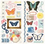 Sweet Life Chipboard Stickers - Bo Bunny