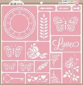 Love Stickable Stencils - Bo Bunny