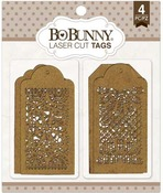 Lace Tags Laser Cut Chipboard - Bo Bunny