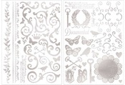 Filagree Silver Foil Rub - ons - Bo Bunny