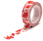 Flower Swirl Red Trendy Tape - Queen