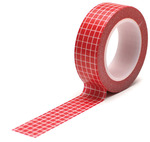 Grid Red Trendy Tape - Queen