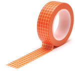 Grid Orange Trendy Tape - Queen