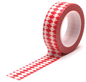 Diamonds Scarlet Trendy Tape - Queen