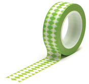 Diamonds Green Trendy Tape - Queen