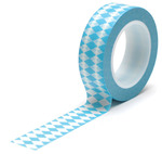 Diamonds Blue Trendy Tape - Queen
