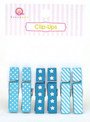 Blue Clip Ups - Queen & Co