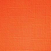 Pumpkin  Textured 12x12 Cardstock - Doodlebug