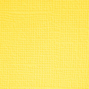 Lemon  Textured 12x12 Cardstock - Doodlebug