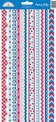 Patriotic Picnic Fancy Frill Sticker Sheet - Doodlebug