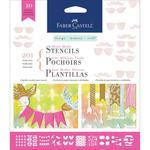 Motif Mixed Media Stencils 10/Pkg - Faber Castell