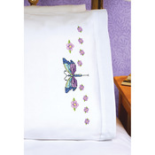 """20""""X30"""" - Dragonfly Pillowcase Pair Stamped Cross Stitch"""
